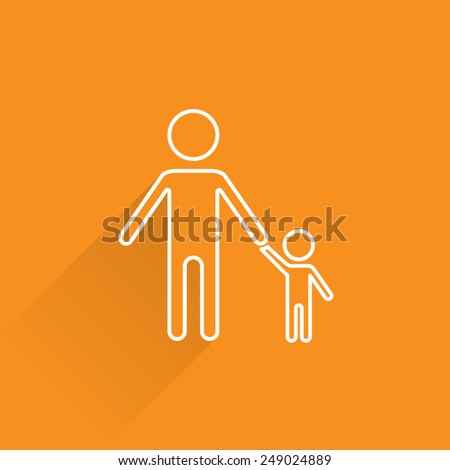 Line Parental Control Icon - stock vector