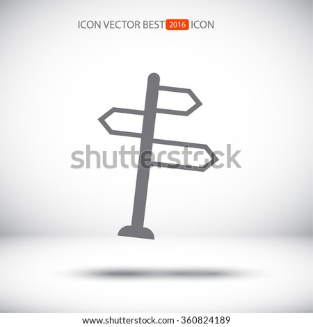 line sign directs vector icon - stock vector
