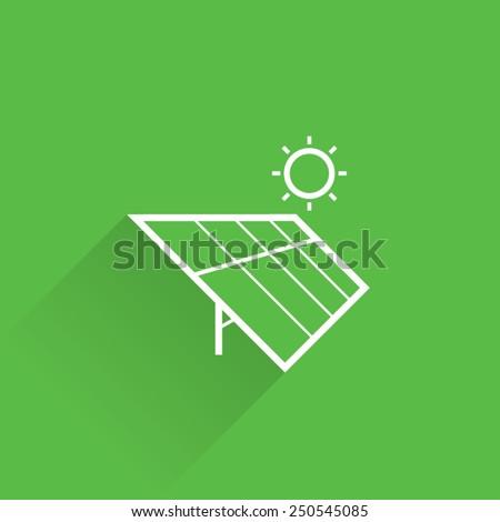 Line Solar Energy Icon - stock vector