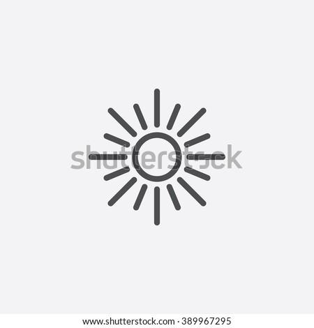 line sun Icon