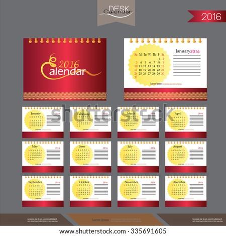 Desk Calendar Design Banque D'Images, D'Images Et D'Images