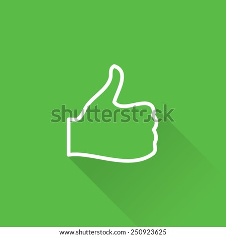 Line Thumb Up Icon Back Side - stock vector