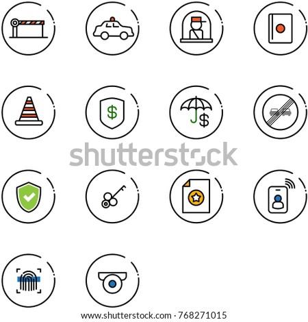 Car Dashboard Vector Icons Set 1 126225575