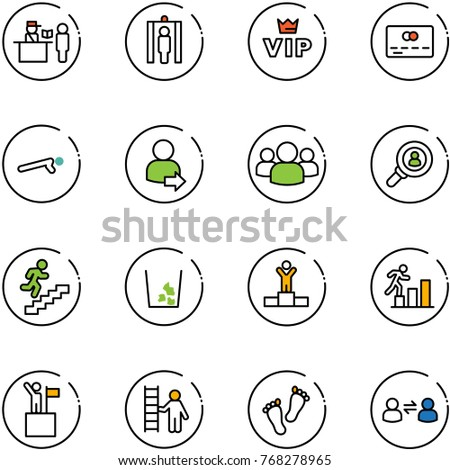 Corporate Social Responsibility Flat Icon Set 397138321