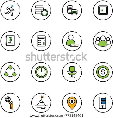 Line Vector Icon Set Run Vector Stock Vector Shutterstock - Run calculator map