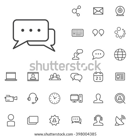 Linear blog icons set. Universal blog icon to use in web and mobile UI, blog basic UI elements set - stock vector