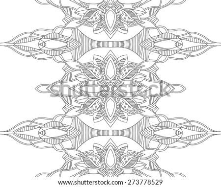 Linear decorative seamless vector pattern. - stock vector