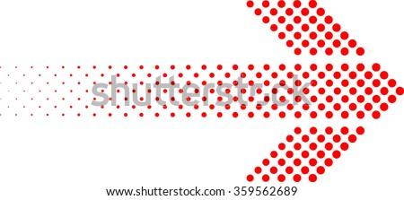 Linear Dots Arrow . Arrow Design . Vector Arrow Background . Arrow Halftone Background . Abstract Arrow . Arrow Geometric. Arrow Icon . Modern Arrow . Geometrical Arrow Arrow Logo. Vector Arrow . - stock vector