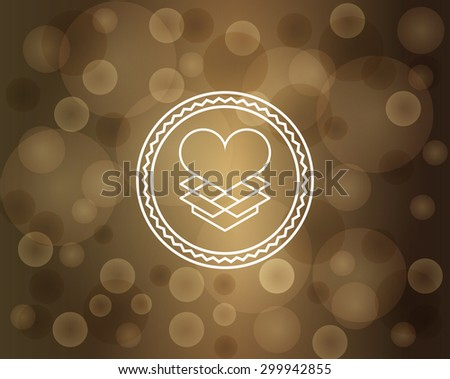 Linear, Gift, Heart, Logo, Gift box, - stock vector