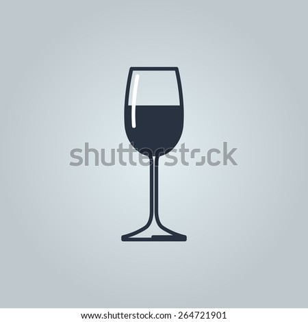 Linear icon of wine  - stock vector