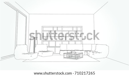 Sketch A Room pencil sketch of a room stock images, royalty-free images