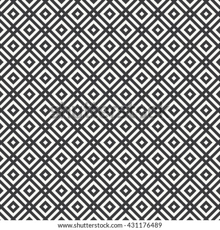 linear stripe vector pattern, linear diamond shape decorate with diamond square shape at center