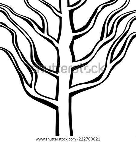 linear tree. vector illustration - stock vector