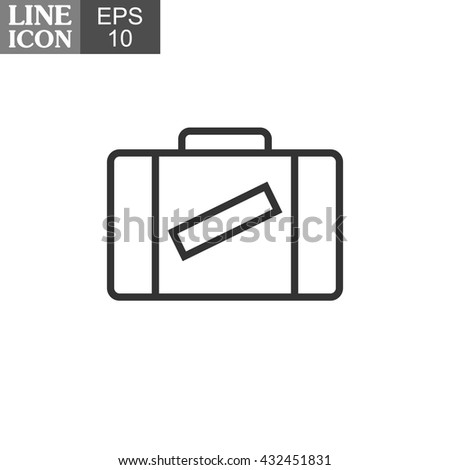 Linear vector suitcase icon. Line icon. EPS 10.