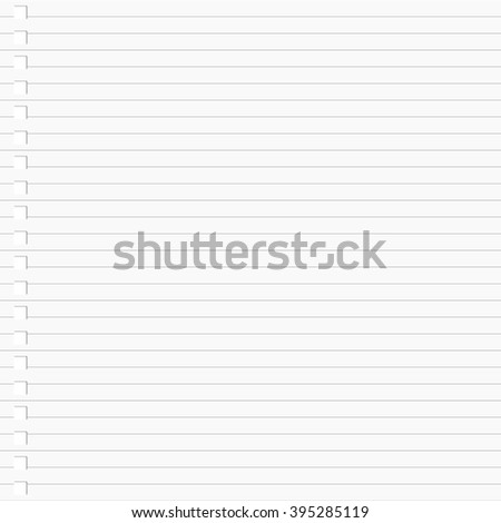 Lined notebook paper background - stock vector