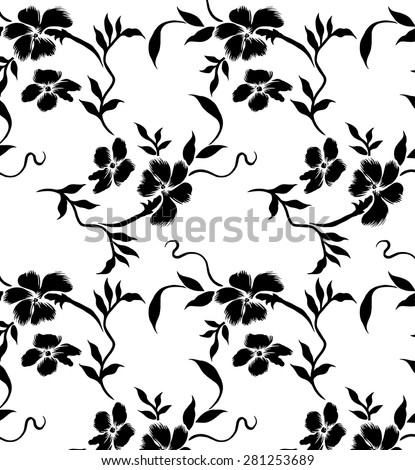 Lined of black bouquet, Vector Beautiful background.