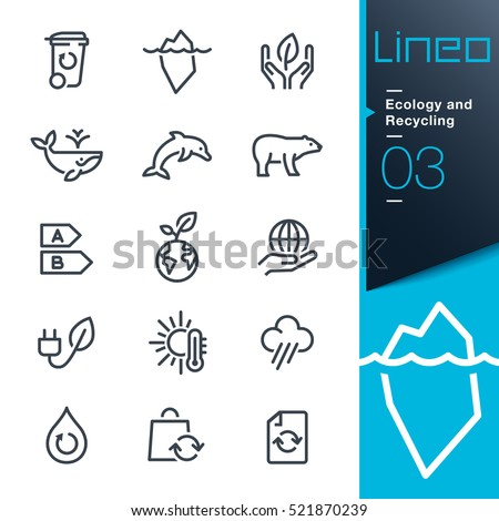 Lineo - Ecology and Recycling line icons