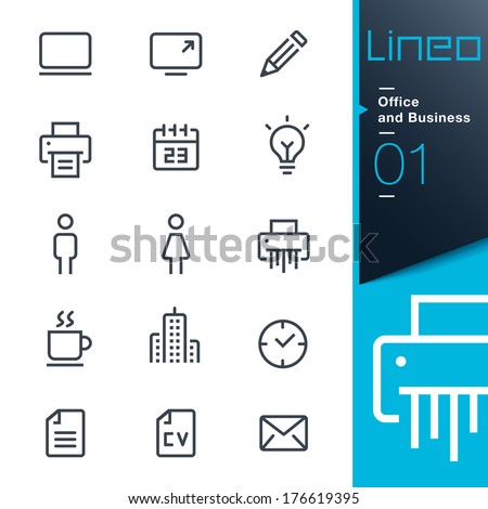 Lineo - Office and Business icons - stock vector