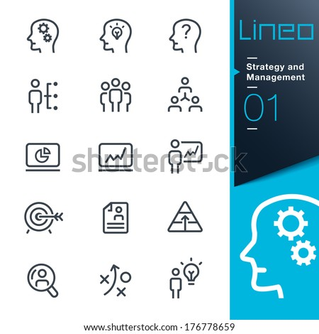Lineo - Strategy and Management icons - stock vector