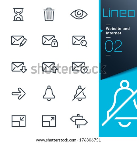 Lineo - Website and Internet outline icons - stock vector