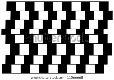 Lines are parallel but seem to be slanted. - stock vector