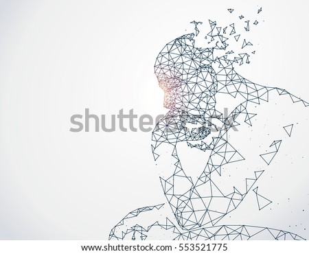 Lines connected to thinkers, symbolizing the meaning of artificial intelligence.