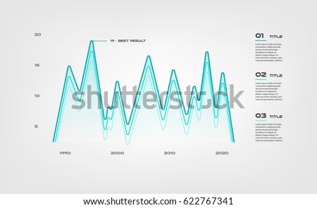 Lines Gradient Diagram Elements Color Infographics Stock Photo