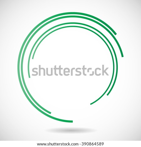 Lines in Circle Form. - stock vector