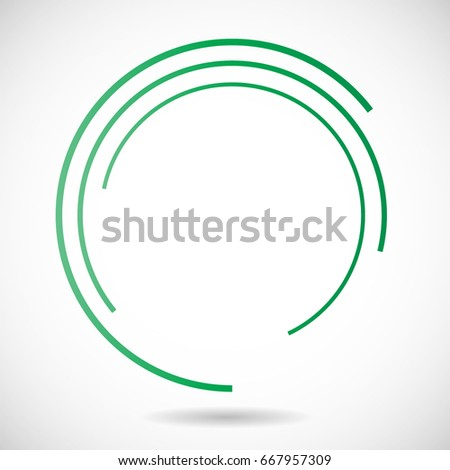 Lines Circle Form Stock Vector 390864589 - Shutterstock
