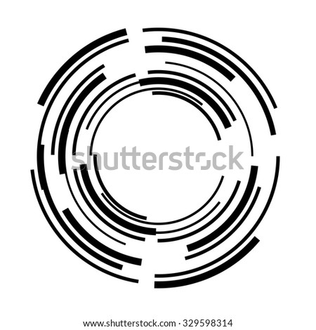 Lines Circle Form Vector Illustration Technology Stock Vector ...