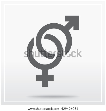 Linked Male Female Symbols Used Symbol Stock Vector Royalty Free