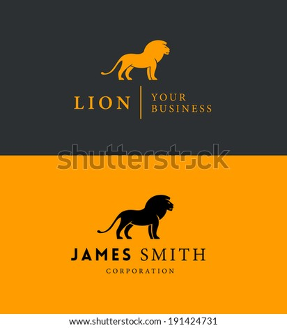 Lion Emblem for Your Business - stock vector