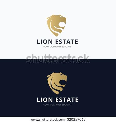 Lion Estate,Real estate Logo,Lion logo, Vector logo template - stock vector