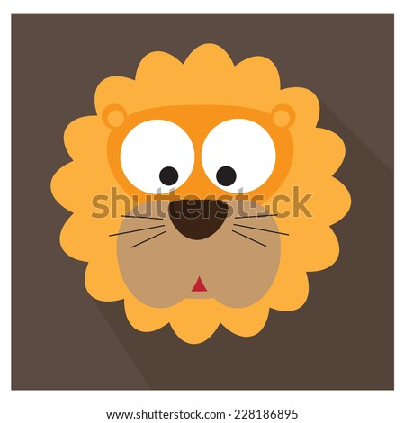 lion face icon. vector