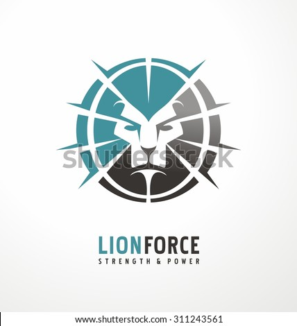 Lion head creative logo design template. King of the jungle symbol layout. Unique icon concept perfect for startup or traditional business. - stock vector