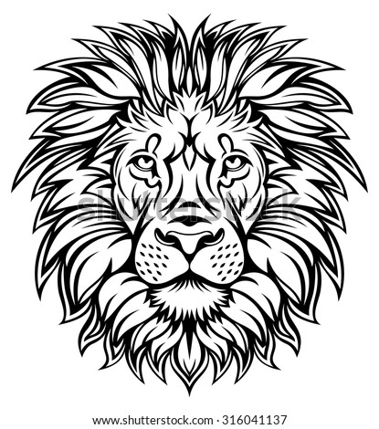 Lion Head Graphic Stock Vector 316041137 Shutterstock