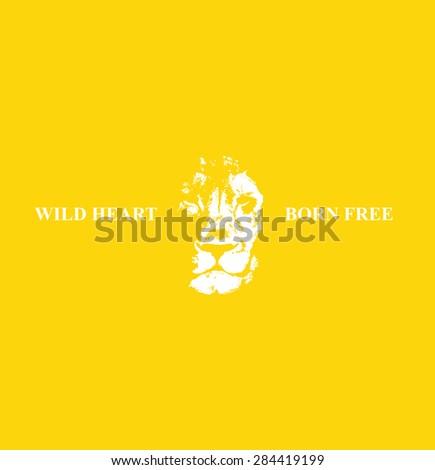 Lion head Hand drawn. Vector background. Vector illustration - stock vector