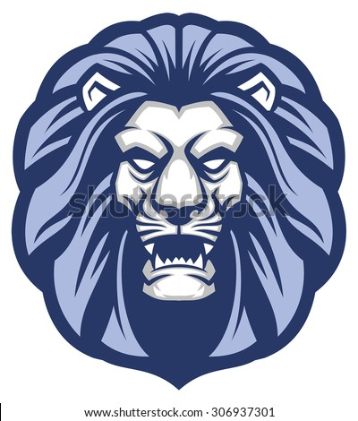 lion head mascot - stock vector