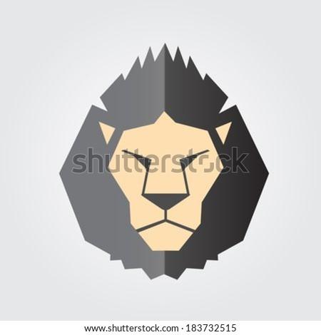 Lion Head. Vector - stock vector