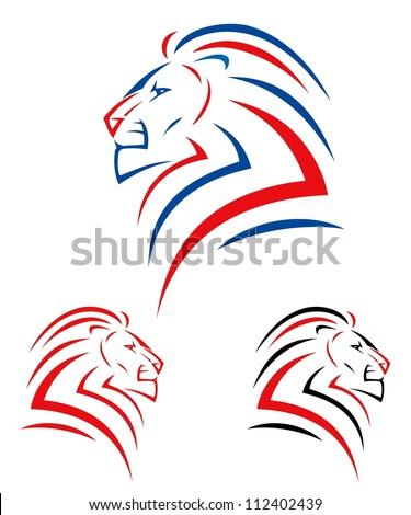 Lion head - vector Easy Lion Head Stencil