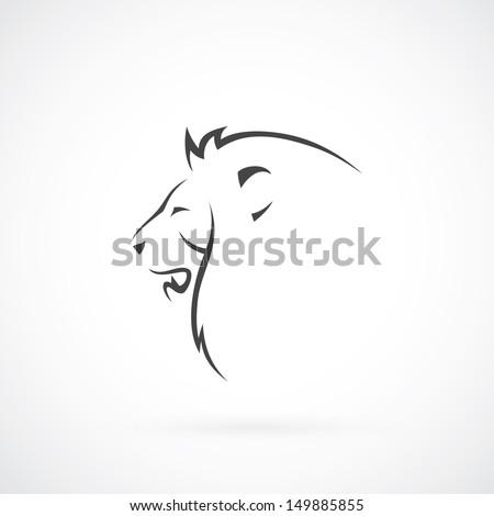 Simple lion head clipart - photo#24
