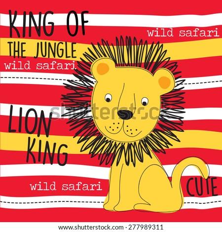 lion king vector illustration - stock vector