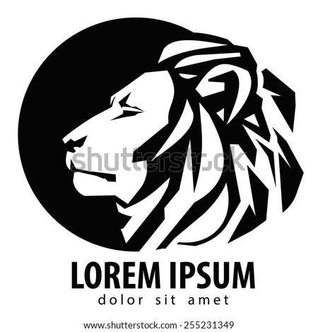 lion logo design template. wildlife or zoo icon. - stock vector