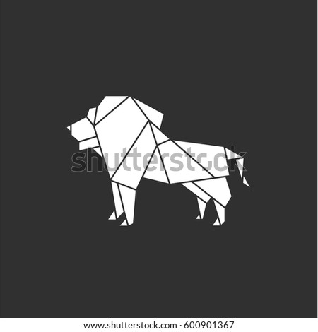 Lion Logo In Vector Format Illustration Of A Polygon Sign For Business