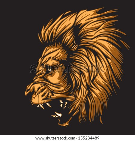 Lion representing Leo zodiac sign or just a sharp vector graphic for general use. Layered and easy to edit. - stock vector