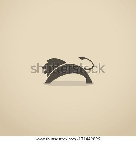 Lion symbol - vector illustration - stock vector