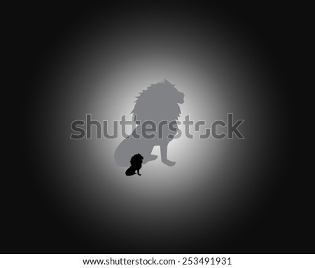 lion vector - stock vector