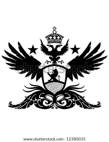 lion wings crest