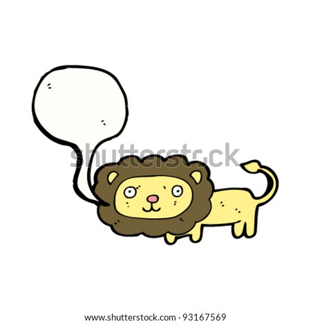lion with speech bubble