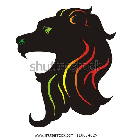 Lion Zion - stock vector